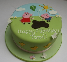 Peppa and George Cake